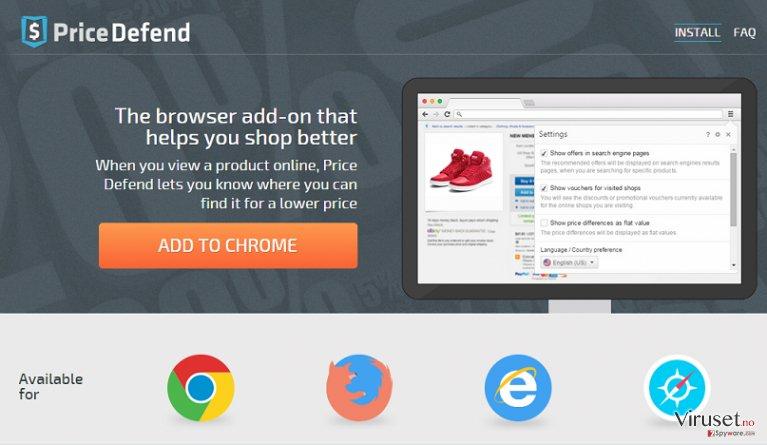 Annonser fra Price Defend skjermbilde