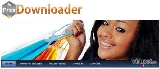 PriceDownloader adware skjermbilde