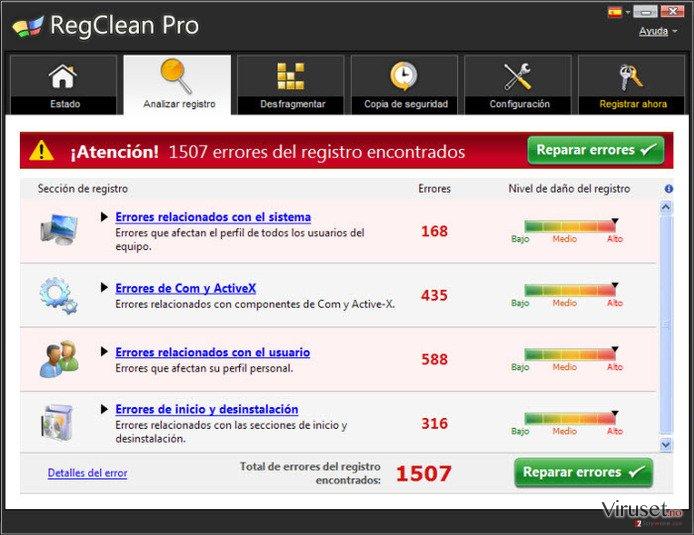 RegClean Pro skjermbilde