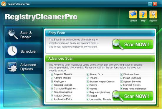 Registry Cleaner Pro skjermbilde
