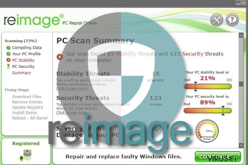 Reimage-virus skjermbilde