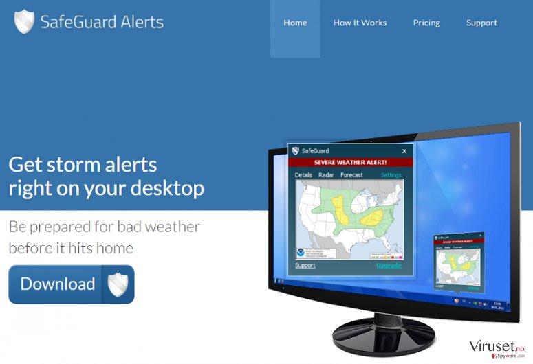 Annonser fra SafeGuard skjermbilde