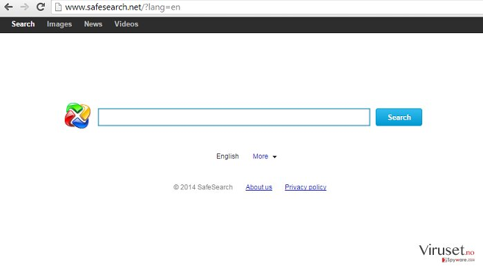 SafeSearch.net omdiriger skjermbilde