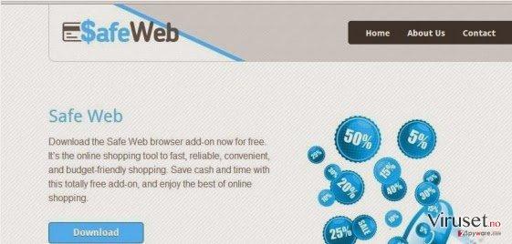 SafeWeb adware skjermbilde