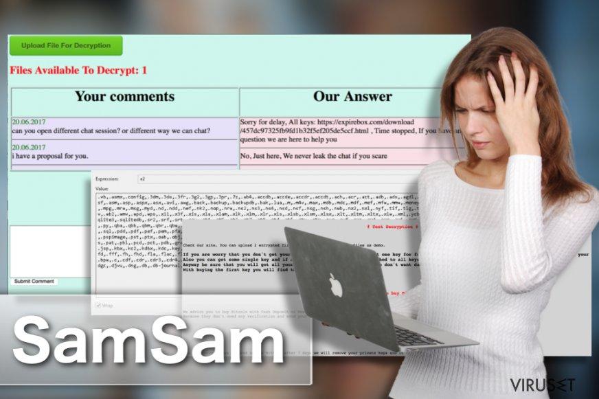 SamSam ransomware-virus skjermbilde