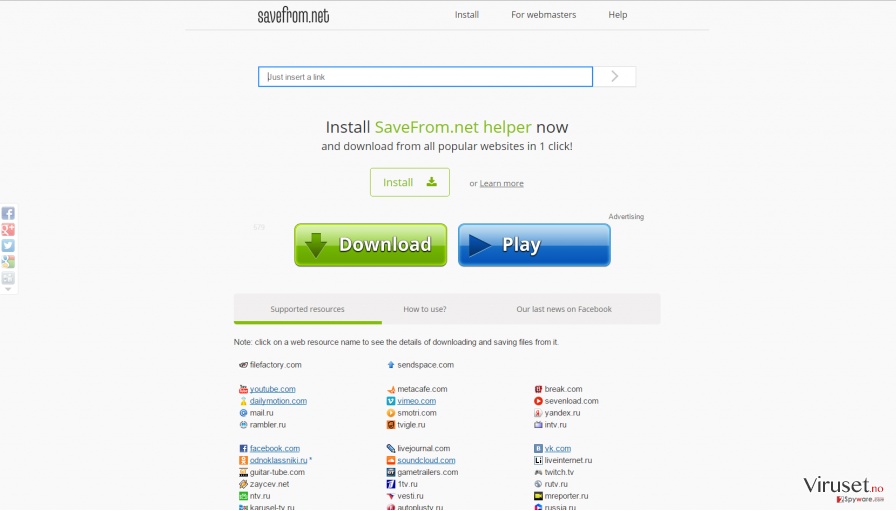 SaveFrom.net virus