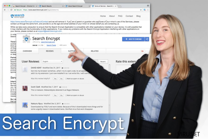 Illustrasjon av Search Encrypt