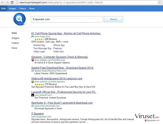 Search.Portalsepeti.com skjermbilde