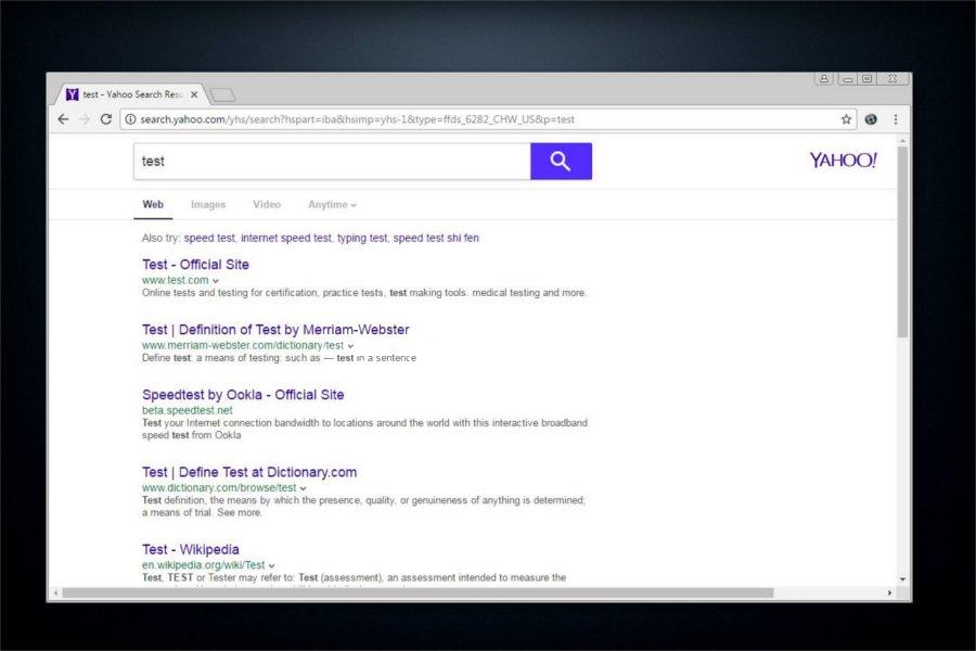 search.yahoo.com omdirigeringer skjermbilde