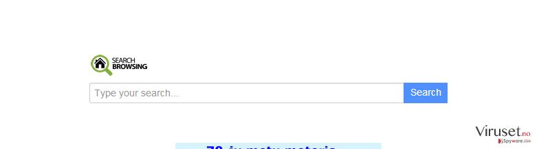 searchbrowsing.com omdirigering skjermbilde
