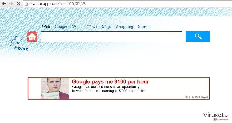Searchitapp.com skjermbilde