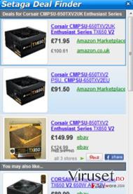 Setaga Deal Finder skjermbilde