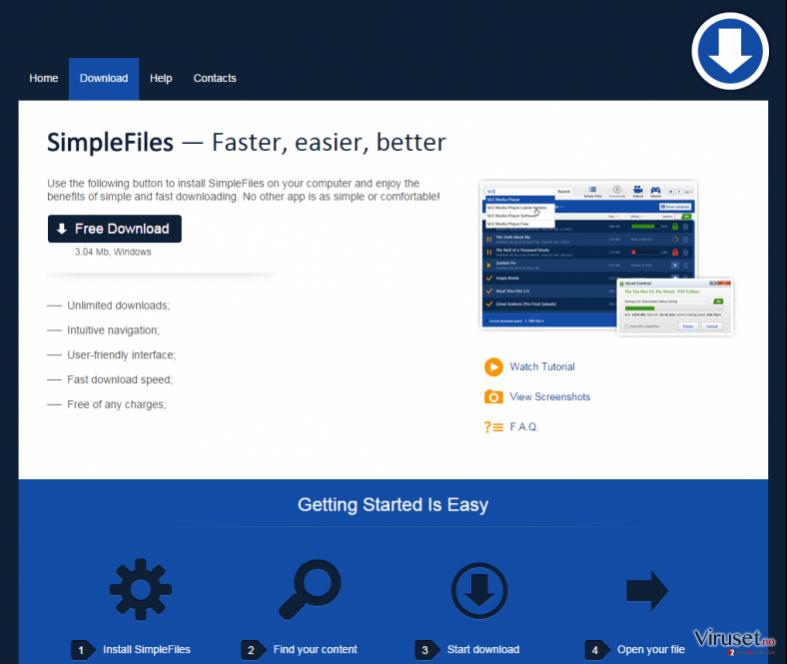 SimpleFiles skjermbilde