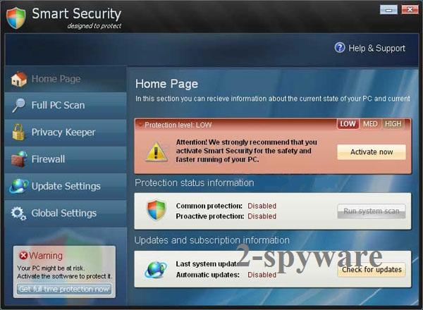 Smart Security virus skjermbilde