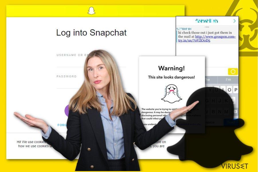Bilde av Snapchat-malware