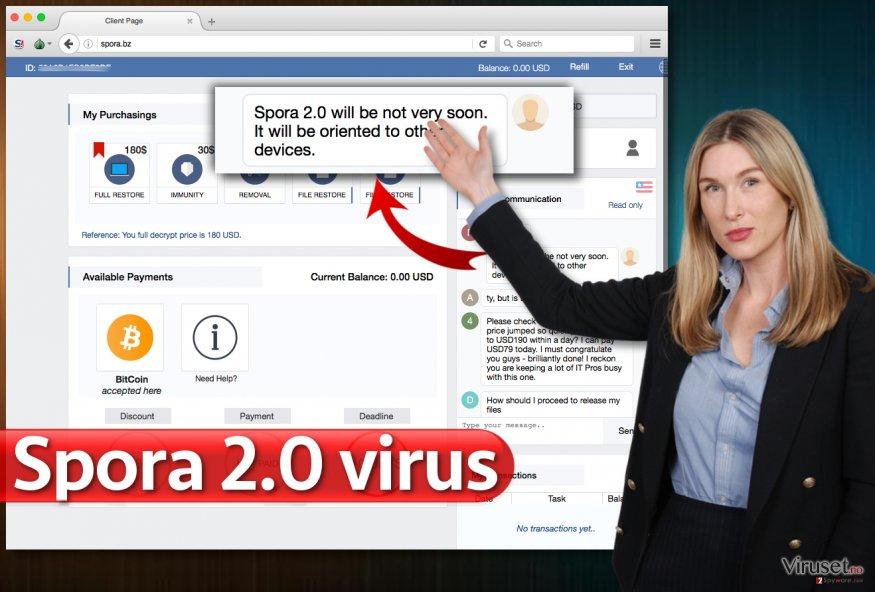 Spora 2.0 ransomware virus