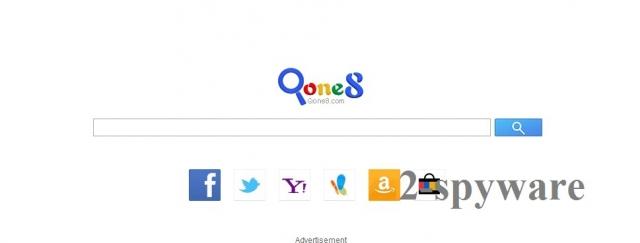 Start.qone8.com skjermbilde