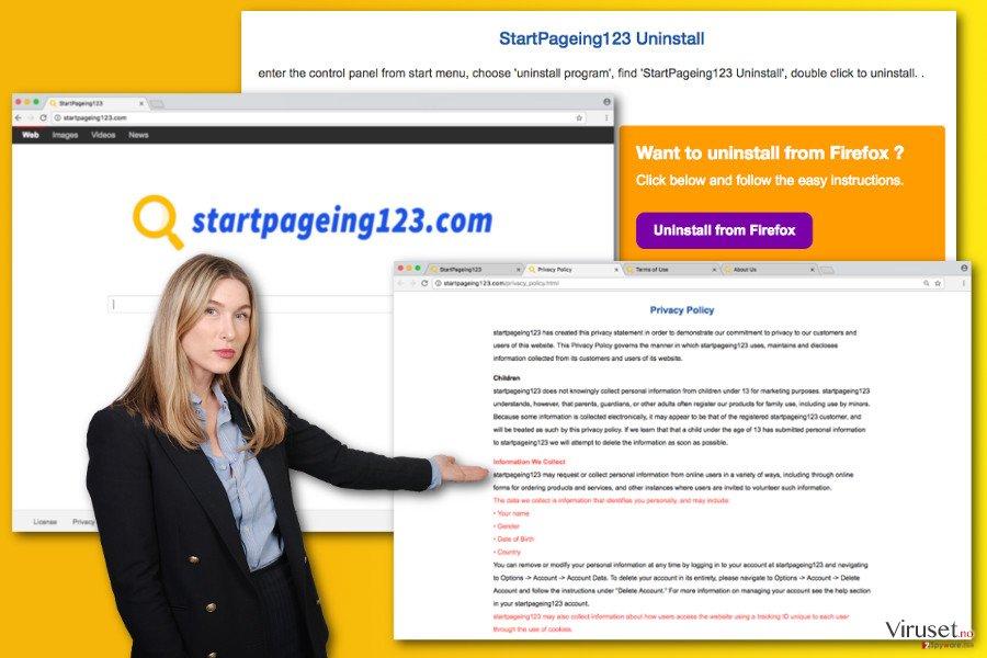 Bilde av StartPageing123.com virus