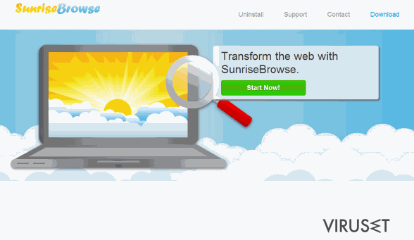 SunriseBrowse-annonser skjermbilde