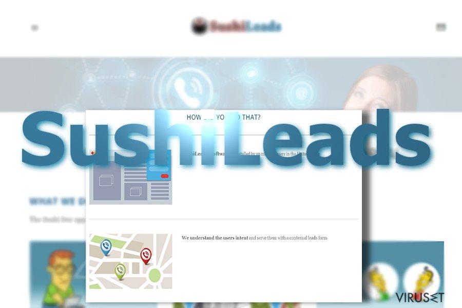 Annonser fra SushiLeads skjermbilde