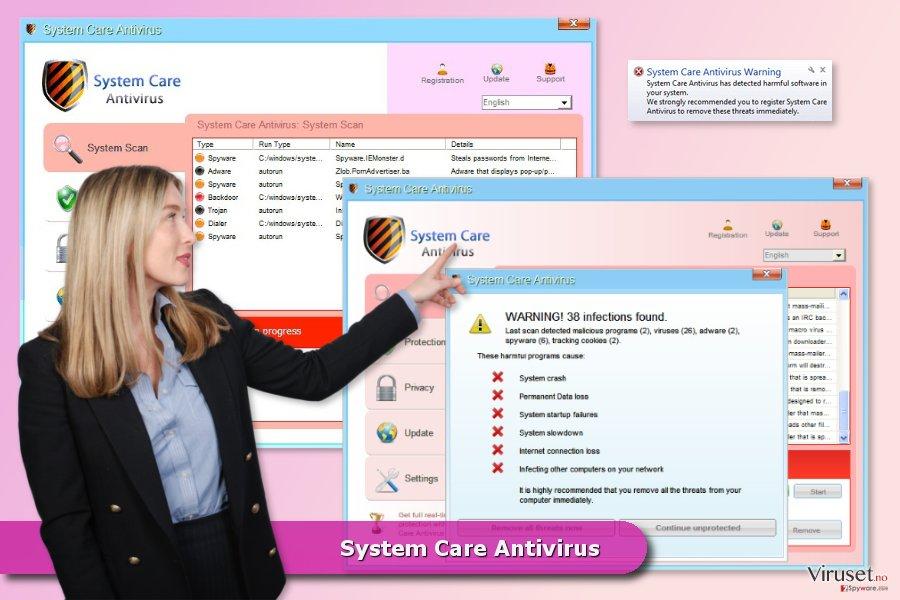 System Care Antivirus skjermbilde