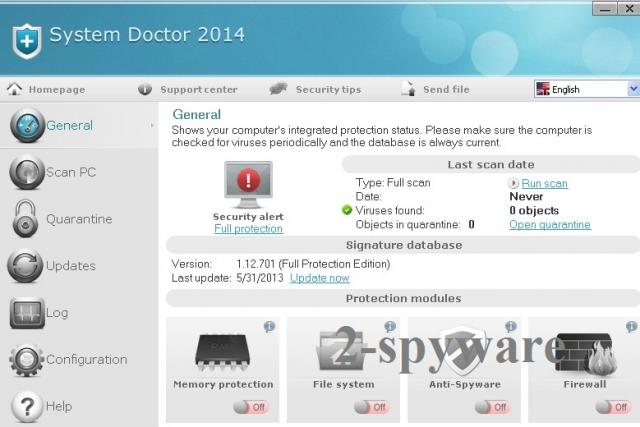 System Doctor 2014 skjermbilde