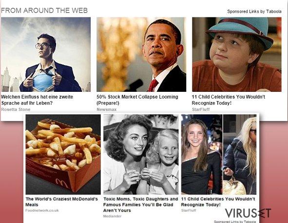 Taboola-annonser skjermbilde