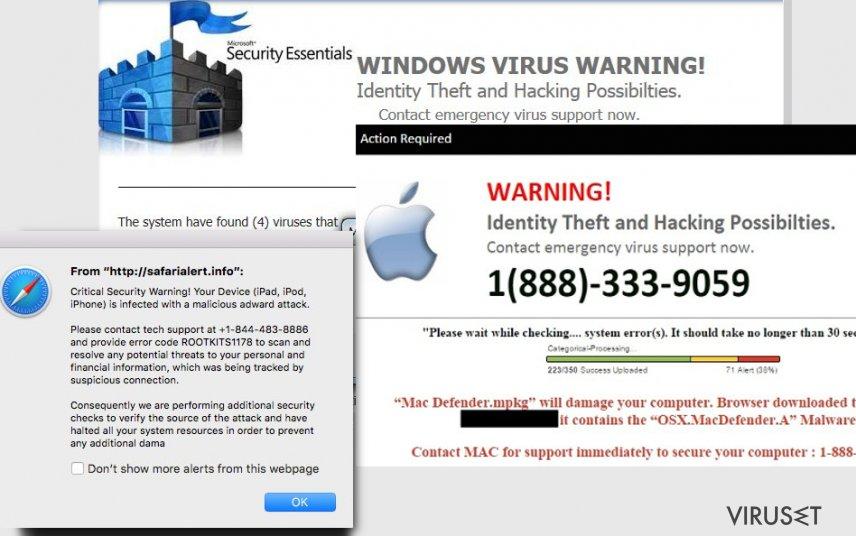 Tech Support Scam-virus skjermbilde