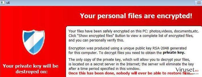 TeslaCrypt-virus skjermbilde