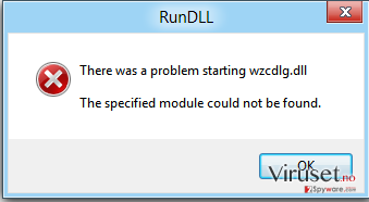 The specified module could not be found skjermbilde