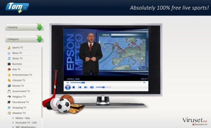 Annonser fra TheTorntvs V11-1 skjermbilde