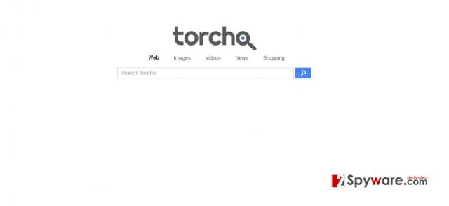 Torcho Web virus skjermbilde