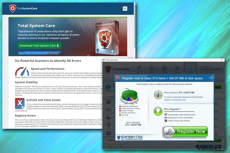 Total System Care skjermbilde