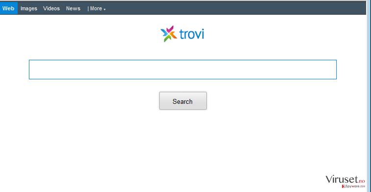 Trovi.com omdirigeringer skjermbilde