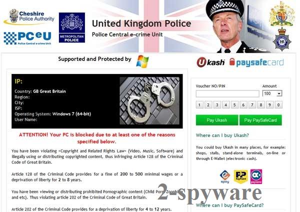 UK Police virus skjermbilde