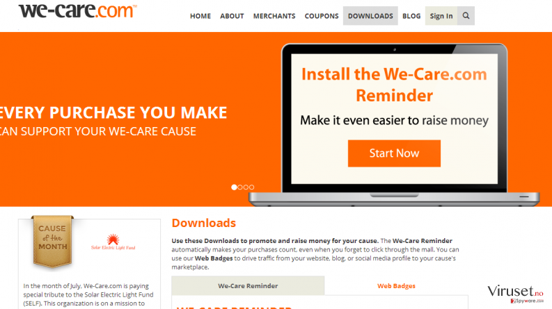 We-care.com skjermbilde