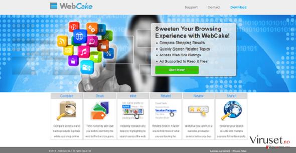 WebCake skjermbilde