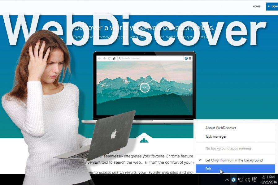 WebDiscover nettleser bilde
