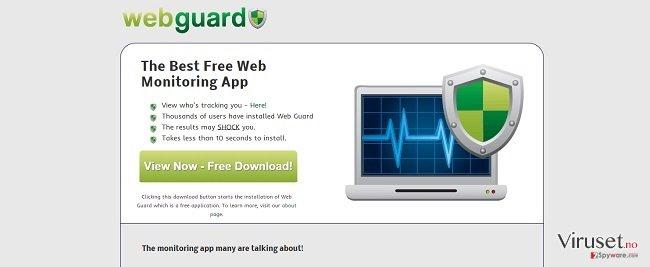 Web Guard-virus skjermbilde