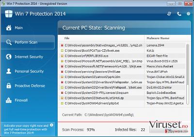 Win 7 Protection 2014 skjermbilde