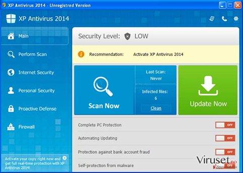 XP Antispyware 2014 skjermbilde