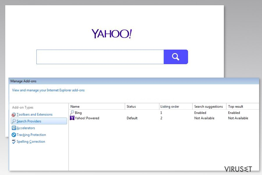 Bilde av Yahoo Powered-virus