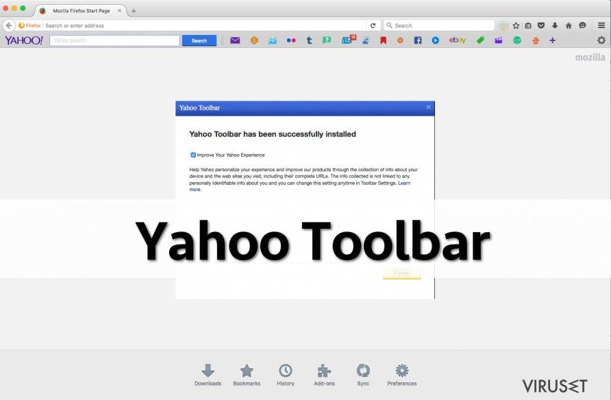 Yahoo verktøylinje skjermbilde