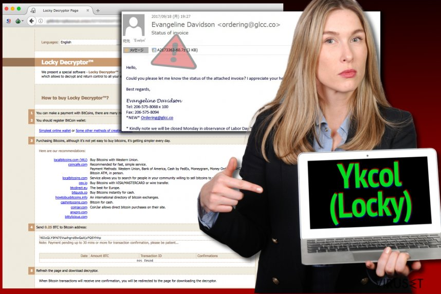 Locky-viruset kaller seg nå Ykcol