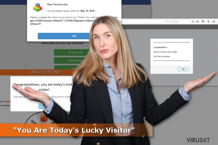 """You Are Today's Lucky Visitor""-annonser"