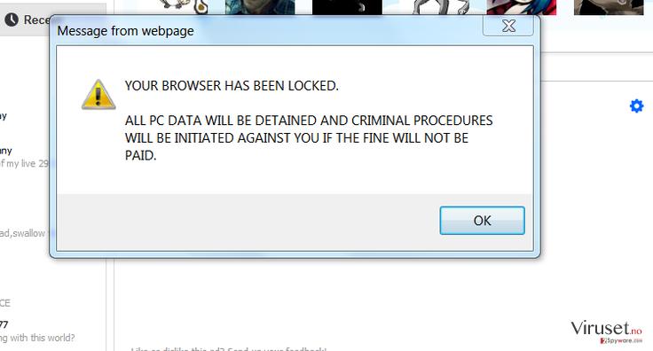 Your browser has been locked skjermbilde