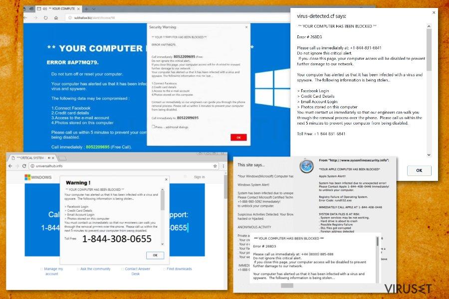 """""""Your Computer Has Been Blocked"""" skjermbilde"""