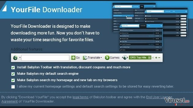 YourFile Downloader skjermbilde
