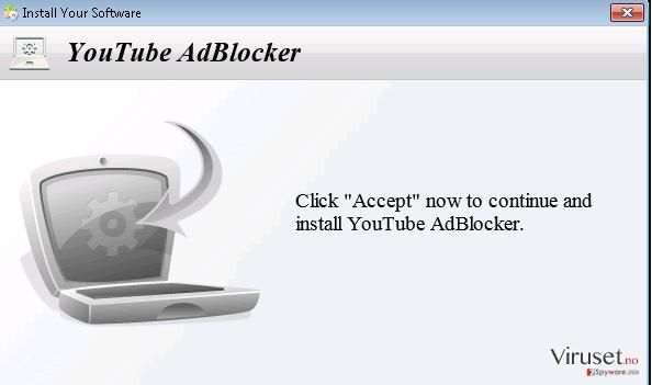YoutubeAdBlocker adware skjermbilde
