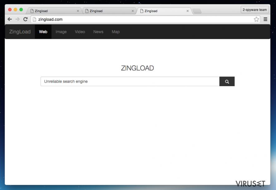 Zingload.com virus